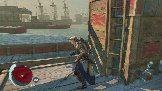 Po rozmowie z Samuelem udaj się na nabrzeże - Sekwencja 6 - Na tropie Johnsona | Solucja Assassins Creed 3 - Assassins Creed 3 - poradnik do gry