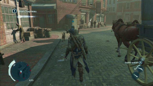 Po rozpoczęciu misji podążaj za zdenerwowanym kucharzem - Sekwencja 6 - Wściekły kucharz | Solucja Assassins Creed 3 - Assassins Creed 3 - poradnik do gry