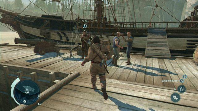 Kolejną misję rozpoczniesz na przystani - 5 - Nauka na błędach - Opis przejścia - Assassins Creed III - poradnik do gry