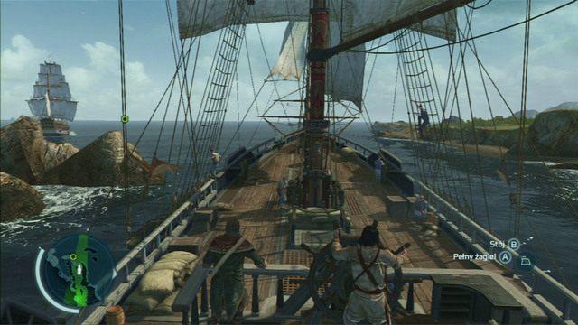 Twoim celem jest osada zaznaczona na mapie zielonym punktem - 5 - Nauka na błędach - Opis przejścia - Assassins Creed III - poradnik do gry