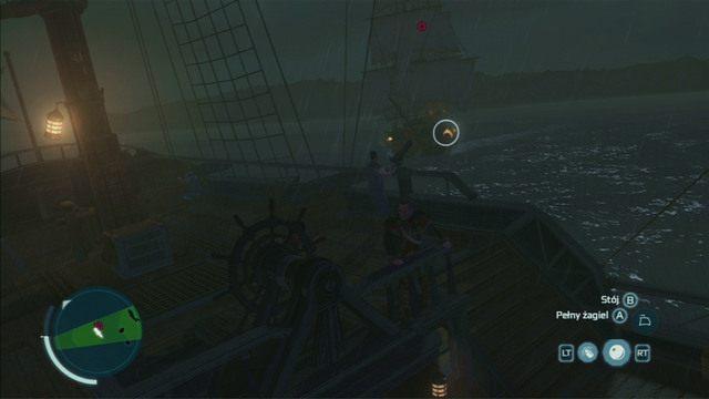 Aby pokonać ostatnią fregatę, strzel do niej dwukrotnie z kolubryn, a następnie dobij salwą folgierzy - 5 - Nauka na błędach - Opis przejścia - Assassins Creed III - poradnik do gry