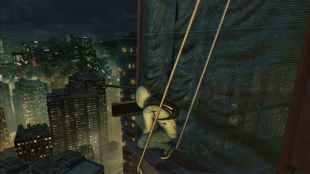 Dalsza droga prowadzi dooko�a budynku po wystaj�cych fragmentach rusztowania - 5 - Pierwsze �r�d�o energii - Opis przej�cia - Assassins Creed III - poradnik do gry