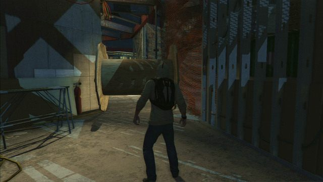 Z prawej powiniene� zauwa�y� du�� szpul� - 5 - Pierwsze �r�d�o energii - Opis przej�cia - Assassins Creed III - poradnik do gry