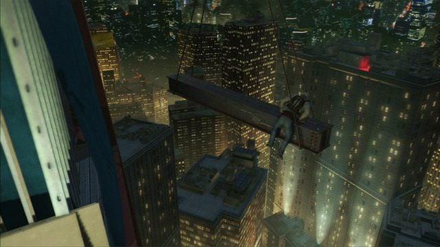 Przeskakując między fragmentami rusztowania obejdź budynek z prawej strony - 5 - Pierwsze źródło energii - Opis przejścia - Assassins Creed III - poradnik do gry
