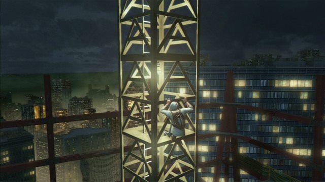 Dotrzesz w ten sposób do kolejnego dźwigu, z którego musisz skoczyć - 5 - Pierwsze źródło energii - Opis przejścia - Assassins Creed III - poradnik do gry