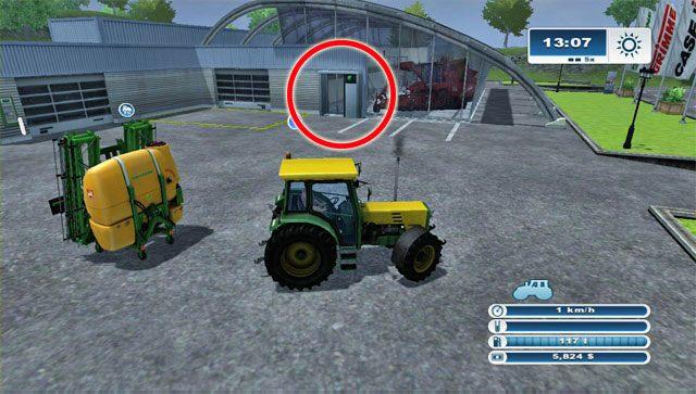 Tymczasem gdy dotrzesz do sklepu zobaczysz, �e stoi przed nim tw�j opryskiwacz - Pierwsza sprzeda� sprz�tu i nowy zakup - opryskiwacz - Pierwsze kroki - Farming Simulator 2013 - poradnik do gry