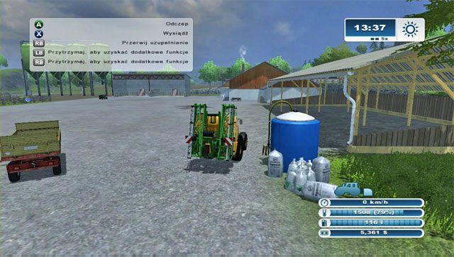 Po zakupie opryskiwacza musisz go nape�ni� na farmie. - Pierwsze opryski - Pierwsze kroki - Farming Simulator 2013 - poradnik do gry