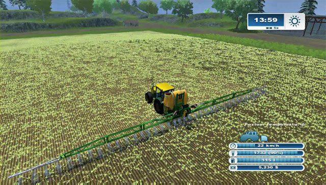 Opryski to bardzo szybki etap prac. - Pierwsze opryski - Pierwsze kroki - Farming Simulator 2013 - poradnik do gry