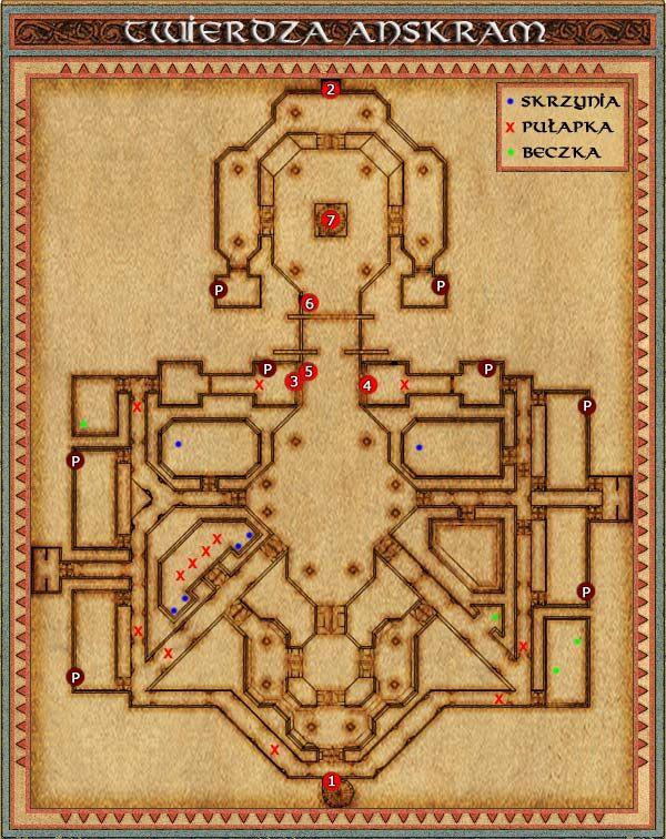 Głównym naszym zadaniem do wykonania w tej lokacji jest zniszczenie wszystkich, (wyglądają jak kominek z drabiną w środku) portali impów (P) - Sturmford - Might & Magic IX: Writ of Fate - poradnik do gry