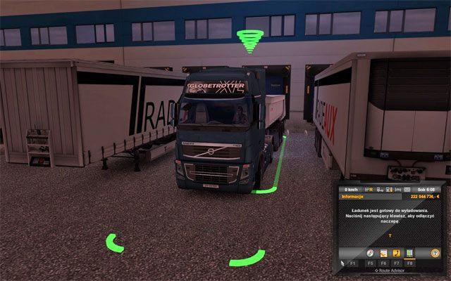 Kierując się mapą i GPSem podążaj do miasta docelowego, do firmy gdzie masz dostarczyć ładunek - Szybkie zlecenie - Rynek pracy - Euro Truck Simulator 2 - poradnik do gry