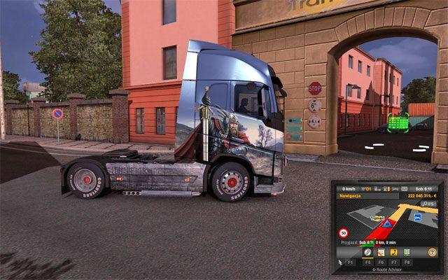 Po wybraniu zlecenia kliknij ustaw na GPS - Przesyłki | Rynek pracy - Euro Truck Simulator 2 - poradnik do gry