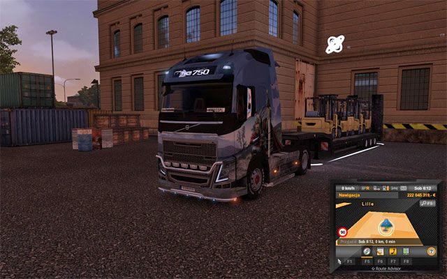 Na terenie firmy znajdziesz zaznaczoną przyczepę - to twoje zlecenie - Przesyłki | Rynek pracy - Euro Truck Simulator 2 - poradnik do gry