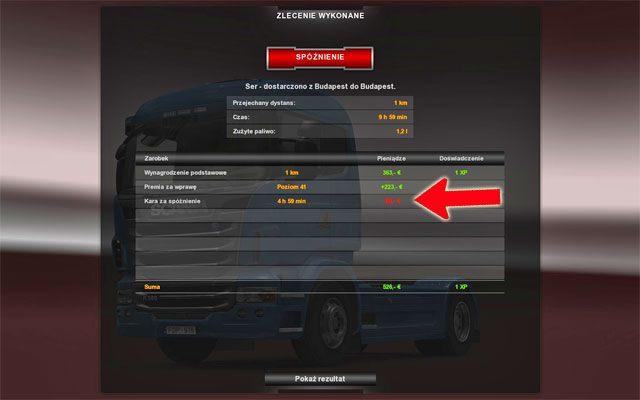 Podczas wykonywania zlecenia pamiętaj, że uszkodzenie ładunku zmniejsza twój przychód - Anulowanie zlecenia; Kary | Rynek pracy - Euro Truck Simulator 2 - poradnik do gry