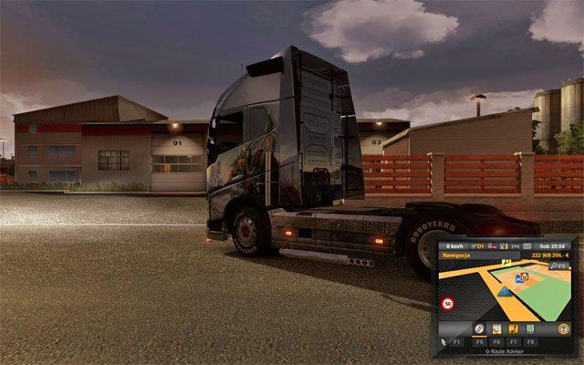 Garaż to miejsce stacjonowania ciężarówki i jej kierowcy - Garaż - Euro Truck Simulator 2 - poradnik do gry