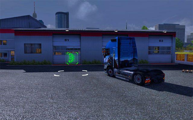 Przemierzając europejskie miasta w każdym z nich znajdziesz pusty mały garaż, który możesz zakupić - Modernizacja i kupno garażu | Garaż - Euro Truck Simulator 2 - poradnik do gry