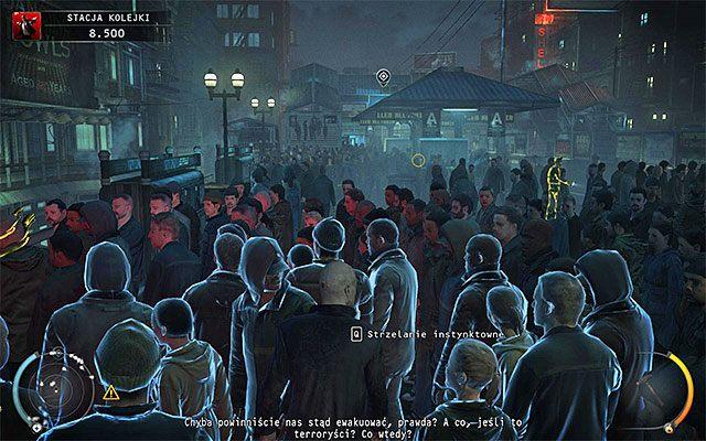 Ruszaj w stron� widocznego w oddali przeciwleg�ego ko�ca peronu stacji kolejki - Uruchomienie semafor�w kolejowych (Stacja kolejki) - 4 - Uciekaj, by prze�y� - Hitman: Rozgrzeszenie - poradnik do gry