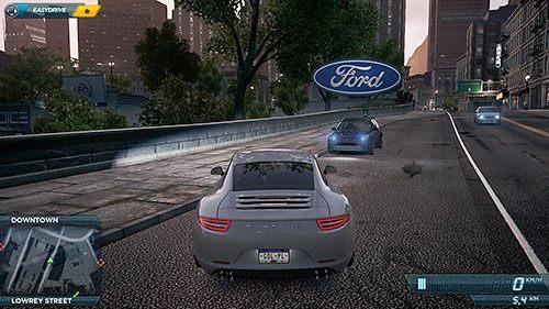 Punkty podmiany (lub Jack Spoty) można łatwo zidentyfikować po ogromnym logo producenta unoszącym się nad danym wozem - Lista samochodów - Need for Speed: Most Wanted - poradnik do gry