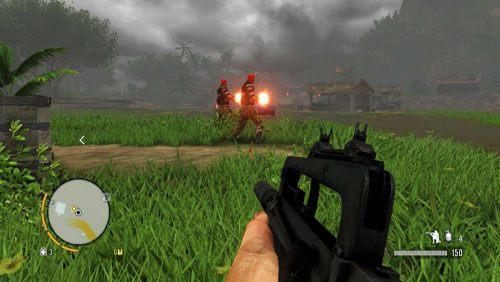 Wyjdź na zewnątrz i zlikwiduj dwóch strażników, w wybrany przez siebie sposób - Człowiek zwany Hoytem - Misje główne - Far Cry 3 - poradnik do gry