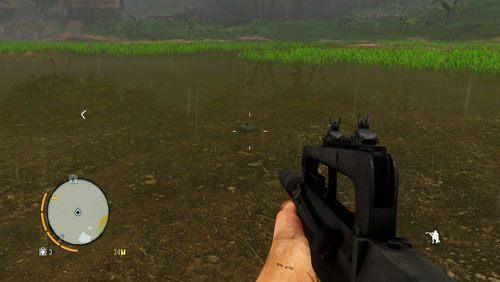 Teraz musisz przejść przez pole, na którym rozmieszczone są miny - Człowiek zwany Hoytem - Misje główne - Far Cry 3 - poradnik do gry