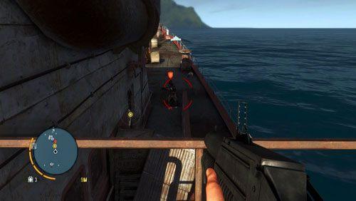 Na pokładzie znajduje się dość sporo wrogów - Fragment przeszłości - Misje główne - Far Cry 3 - poradnik do gry