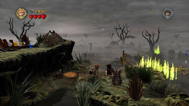 Kolejna wyspa, kolejny ogień i kolejne zadanie dla Sama - Martwe Bagna - Opis przejścia - Akt II - LEGO The Lord of the Rings: Władca Pierścieni - poradnik do gry