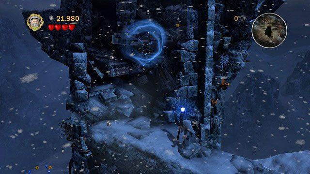 Zawalone schody naprawimy przy u�yciu magii Gandalfa - Ob�askawienie Golluma - Opis przej�cia - Akt II - LEGO The Lord of the Rings: W�adca Pier�cieni - poradnik do gry