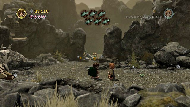 Po zakończeniu starcia, automatycznie przejmiemy kontrolę nad Hobbitami - Obłaskawienie Golluma - Opis przejścia - Akt II - LEGO The Lord of the Rings: Władca Pierścieni - poradnik do gry