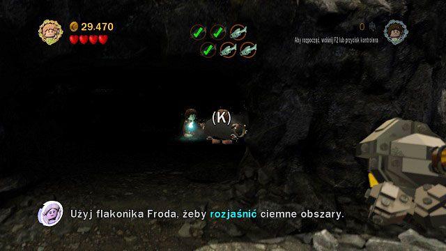 Czwarta ryba znajduje się w ciemnej jaskini - Obłaskawienie Golluma - Opis przejścia - Akt II - LEGO The Lord of the Rings: Władca Pierścieni - poradnik do gry