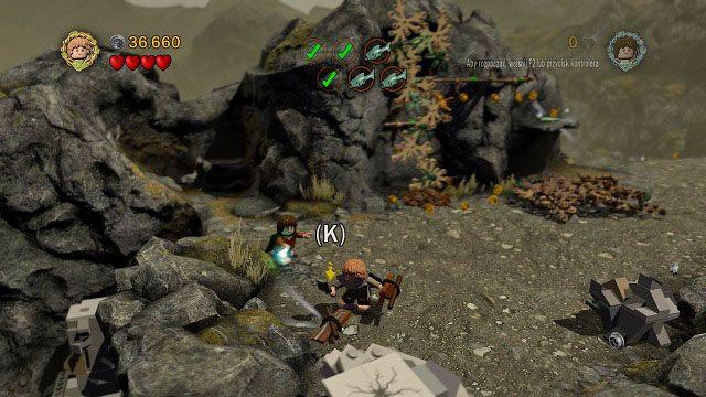 Czas zdoby� pi�t� ryb� - Ob�askawienie Golluma - Opis przej�cia - Akt II - LEGO The Lord of the Rings: W�adca Pier�cieni - poradnik do gry