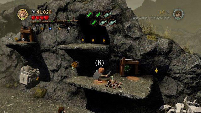 Ostatnia ryba znajduje si� w ciemnej jaskini wysoko nad nami - Ob�askawienie Golluma - Opis przej�cia - Akt II - LEGO The Lord of the Rings: W�adca Pier�cieni - poradnik do gry
