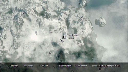 Kamień Bestii znajdziesz tuż obok Świątyni Miraaka - wystarczy, że udasz się nieco na wschód (pokieruje Cię słup światła sięgający do nieba) - Cleanse the Beast Stone [Oczyść Kamień Bestii] - Cleansing the Stones [Oczyszczanie Kamieni] - The Elder Scrolls V: Skyrim - Dragonborn - poradnik do gry