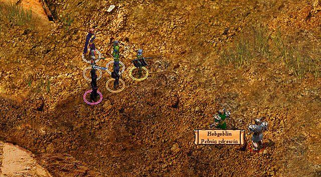 W dolinie na środku mapy spotkasz Hobgoblina [A], który posiada przy sobie identyczną parę butów, których szukałeś (czyżby Zhurlongowi ukradziono dwie - Zaginione buty Zhurlonga - Rozdział 1 - zadania poboczne - Baldur's Gate: Enhanced Edition - poradnik do gry