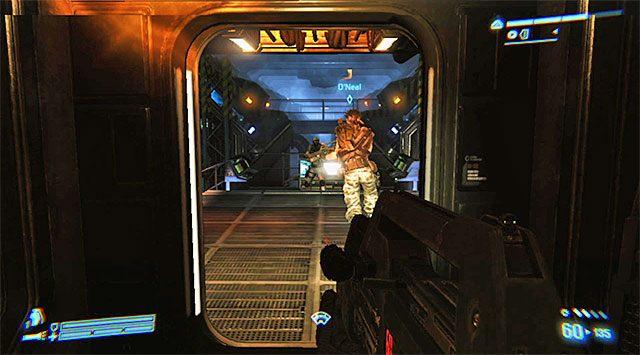 Możesz ruszać dalej - Przejdź przez sekcję inżynieryjną na pokład dowodzenia - Misja 2 - Bitwa o Sulaco - Aliens: Colonial Marines - poradnik do gry