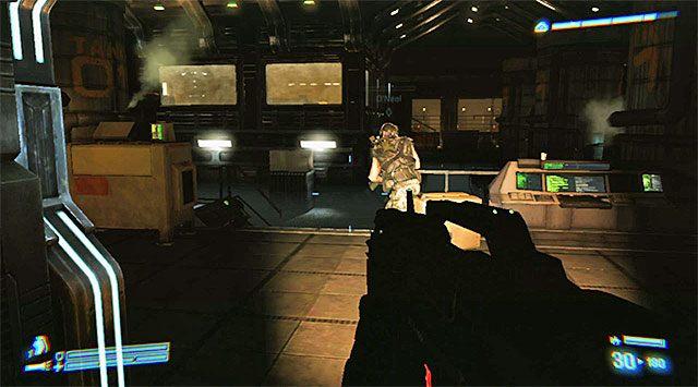 1 - Przejdź przez sekcję inżynieryjną na pokład dowodzenia - Misja 2 - Bitwa o Sulaco - Aliens: Colonial Marines - poradnik do gry