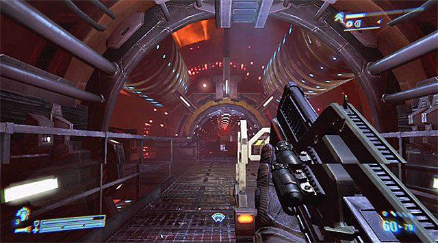 Możesz już zająć się zlokalizowaniem panelu sterowania z zamiarem odblokowania drzwi prowadzących do sekcji inżynieryjnej - Przejdź przez sekcję inżynieryjną na pokład dowodzenia - Misja 2 - Bitwa o Sulaco - Aliens: Colonial Marines - poradnik do gry