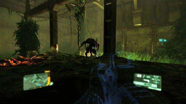 Po przejściu przez kolejne drzwi i krótkim przerywniku zeskoczysz na dół - Dotrzyj do północnej stacji kolejowej - Welcome to the Jungle - Crysis 3 - poradnik do gry