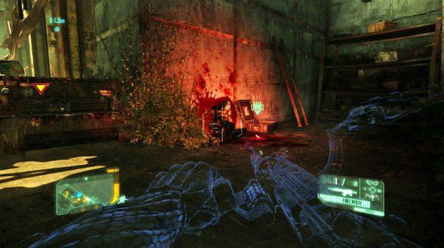Kiedy oczyścisz teren zeskocz na ziemię trzymając się prawej strony pomieszczenia - Dotrzyj do północnej stacji kolejowej - Welcome to the Jungle - Crysis 3 - poradnik do gry