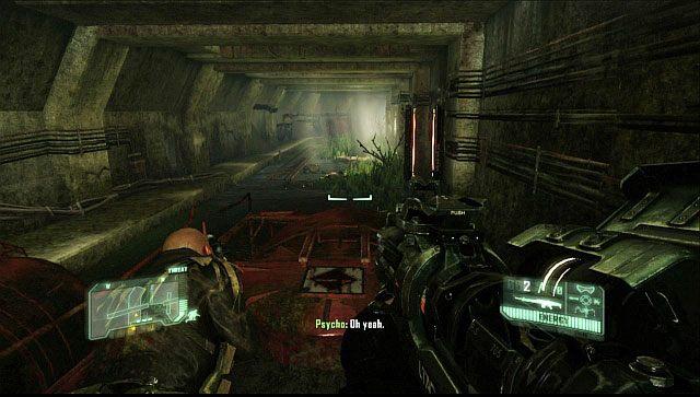 Kiedy dotrzecie do drzwi, które będą zablokowane, ponownie idź za Psycho ignorując mijane Stalkery - Wyłącz źródło zakłóceń - Welcome to the Jungle - Crysis 3 - poradnik do gry