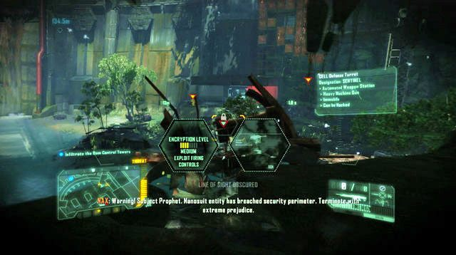 Możesz również postarać się wyminąć wszystkich korzystając z pozostałości korytarzy budynków po prawej oraz lewej stronie - Zniszcz tamę - The Root of All Evil - Crysis 3 - poradnik do gry