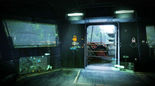 Kiedy winda się zatrzyma, zaczekaj aż kratka wentylacyjna na jej suficie otworzy się i wejdź na górę - Zniszcz tamę - The Root of All Evil - Crysis 3 - poradnik do gry