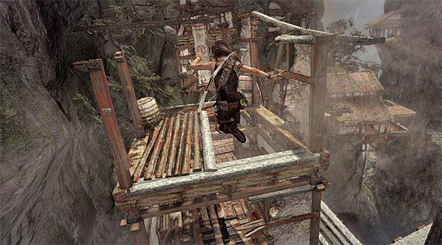 Musisz teraz wziąć udział w dłuższej sekwencji ucieczki - Znajdź drogę powrotną do wioski w górach - 9 - Rzadziej uczęszczana ścieżka - Tomb Raider - poradnik do gry