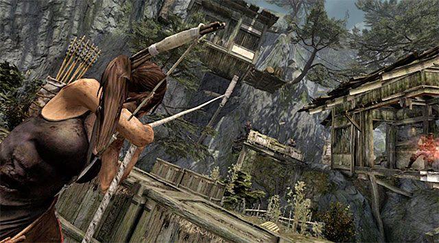 Wyeliminowanie wspomnianych wyżej bandytów nie zakończy tej bitwy, bo w okolicy przebywa jeszcze kilku innych przeciwników - Spotkaj się z Rothem - 9 - Rzadziej uczęszczana ścieżka - Tomb Raider - poradnik do gry