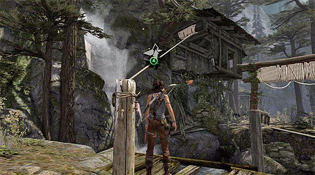 Po dotarciu do kolejnej lokacji zmuszony zostaniesz do rozegrania samouczka dotyczącego konstruowania mostów z lin - Spotkaj się z Rothem - 9 - Rzadziej uczęszczana ścieżka - Tomb Raider - poradnik do gry