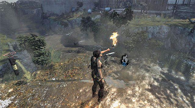 Rozpal pochodnię i powróć z nią do mijanych wcześniej zbiorników - Rozpal ognisko, by nadać sygnał wezwania pomocy - 8 - Wołanie o pomoc - Tomb Raider - poradnik do gry