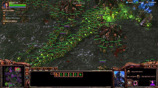 Przyszedł czas na najprzyjemniejszą część misji - Dominacja - Kampania - Char - StarCraft II: Heart of the Swarm - poradnik do gry