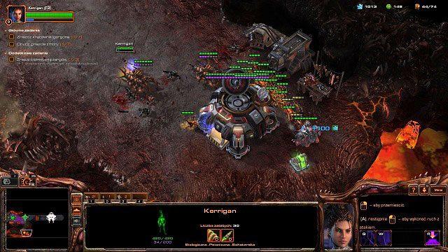 Naszym pierwszym celem będzie niewielka baza produkcyjna Dominium znajdująca się na południe od nas - Ogień na niebie - Kampania - Char - StarCraft II: Heart of the Swarm - poradnik do gry