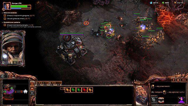 Druga baza Terran znajduje się na północ od naszej pozycji startowej - Ogień na niebie - Kampania - Char - StarCraft II: Heart of the Swarm - poradnik do gry