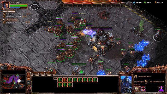 Czeka nas teraz najtrudniejsze starcie w całej misji - musimy zaatakować główną bazę Terran, gdyż wewnątrz niej znajduje się ostatnie dowództwo orbitalne - Ogień na niebie - Kampania - Char - StarCraft II: Heart of the Swarm - poradnik do gry