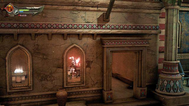 Po walce przeszukaj teren starcia - Zerwany most, zagadka z walcem i Meduza - Pocz�tek wioski (2) - God of War: Ascension - poradnik do gry