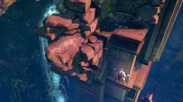 Wspinaj się cały czas do góry aż dojdziesz do podmokłej ścieżki - 6 - Zbiornik - God of War: Ascension - poradnik do gry